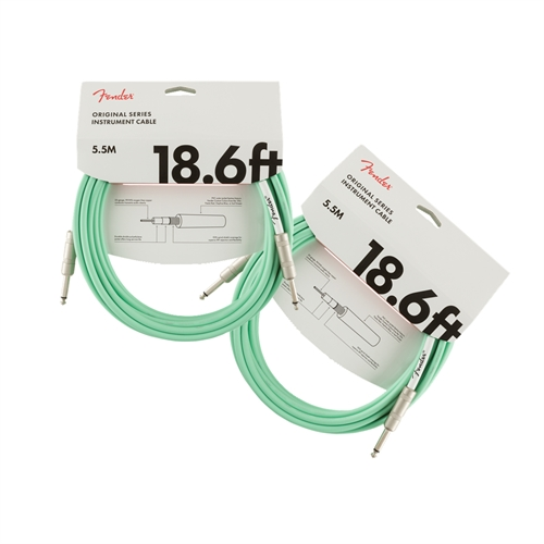Fender Original instrumentkabel, Surf Green - 5,5 m. (2 stk)