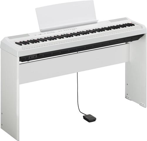 yamaha p 115 digital piano hvid inkl original stativ. Black Bedroom Furniture Sets. Home Design Ideas