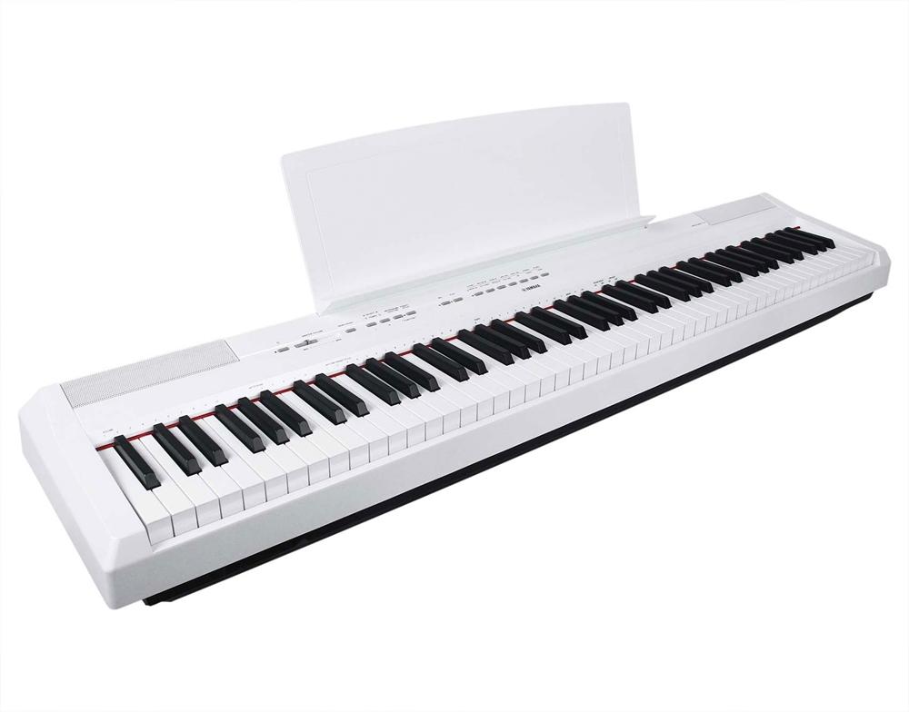 Yamaha p 115 digital piano wh white k b online for Yamaha digital piano p 115