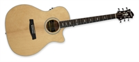 Hagstrom Siljan II Grand Auditorium CE - Western Guitar with Cutaway & Preamp - Natural