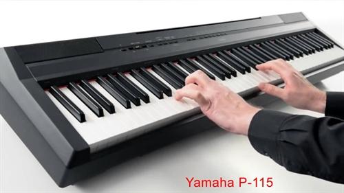 yamaha p 115 digital stage piano black k b online billigt hurtigt og let fuld returret. Black Bedroom Furniture Sets. Home Design Ideas